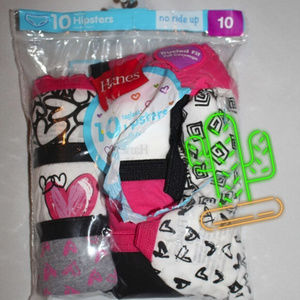 4/$20  HANES  Girls Underwear Size 10